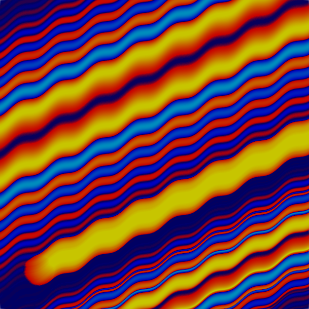 Tenth solution, showing a fully resolved flow.